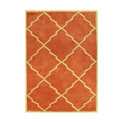 Kate Hand-Tufted Rust Area Rug Rug Size: 8 x 10