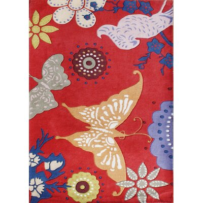 New Zealand Handmade Red Area Rug