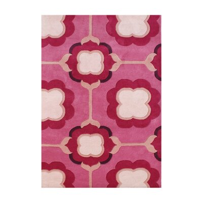 New Zealand Handmade Raspberry Wine Area Rug
