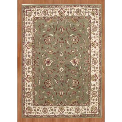New Zealand Handmade Green Area Rug