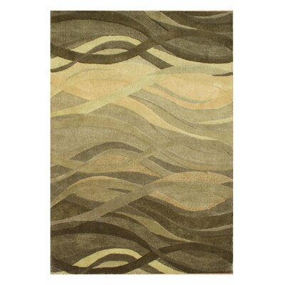 New Zealand Handmade Green Area Rug Rug Size: Rectangle 4 x 6