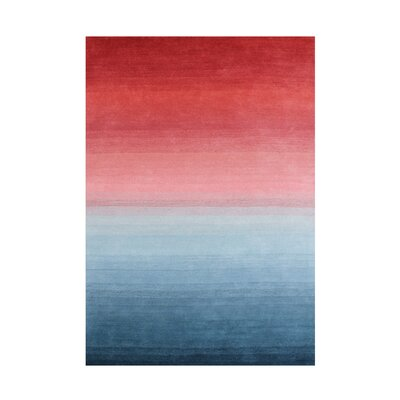 Daigle Hand-Woven Red/Blue Area Rug Rug Size: 8 X 10