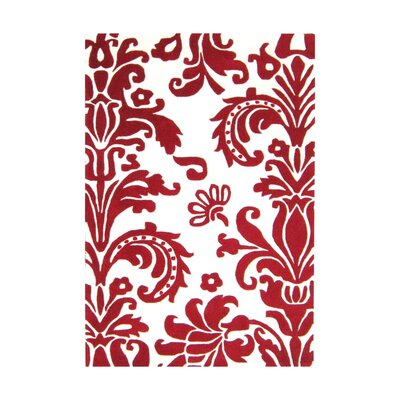Brianna Hand-Tufted Red Area Rug Rug Size: 4 x 6
