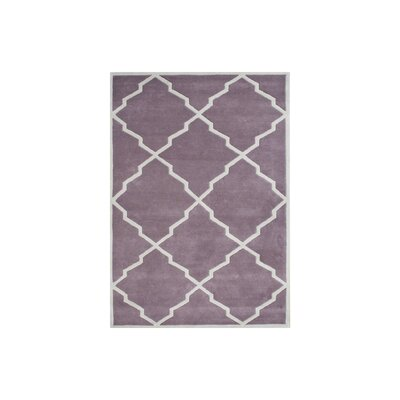Kate Hand-Tufted Lilac Area Rug Rug Size: 8 x 10