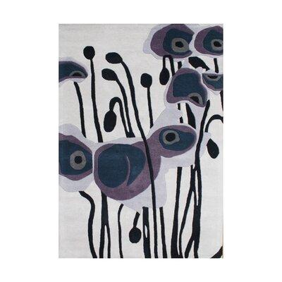 Ashlynn Hand-Woven Purple Area Rug Rug Size: 8 x 10