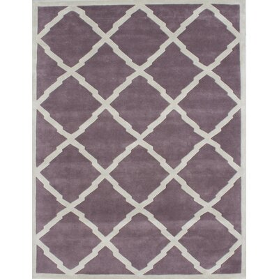 Kate Hand-Tufted Lilac Area Rug Rug Size: 9 x 12