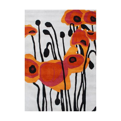 Ashlynn Hand-Woven Orange Area Rug Rug Size: 8 x 10