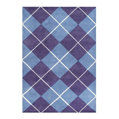 Christofferso Hand-Woven Purple Area Rug Rug Size: 5 X 8