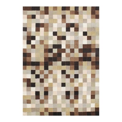 Denniston Pure Eye Candy Hand-Woven Brown Area Rug Rug Size: 8 X 10