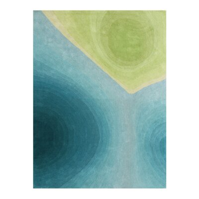 Gentner Bring the Peacefulness of Nature Hand-Woven Green Area Rug Rug Size: 8 X 10
