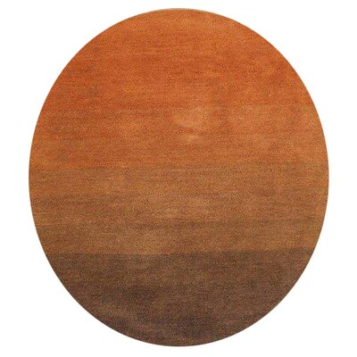 Northbrook Hand-Woven Brown/Rust Area Rug Rug Size: 6 Round