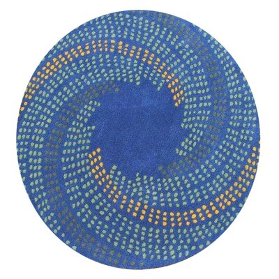 Turton Hand-Woven Blue Area Rug Rug Size: 4 Round