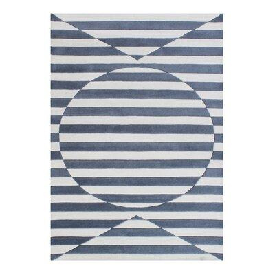 Darnall Hand-Woven Gray Area Rug Rug Size: 8 X 10