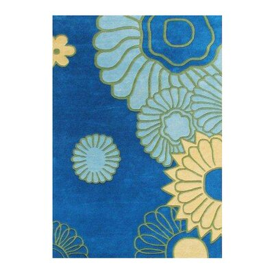 Essex Hand-Woven Blue/Green Area Rug Rug Size: 5 X 8
