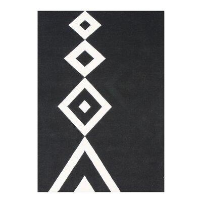 Bartolome Hand-Woven Black Area Rug Rug Size: 5 X 8