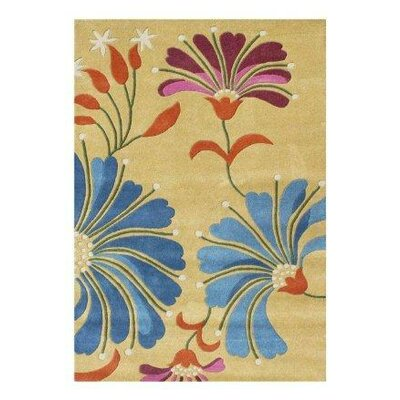 Newburgh Hand-Woven Blue/Yellow Area Rug Rug Size: 5 X 8