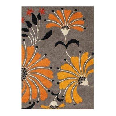 Nicolas Hand-Woven Brown/Oragne Area Rug Rug Size: 5 X 8
