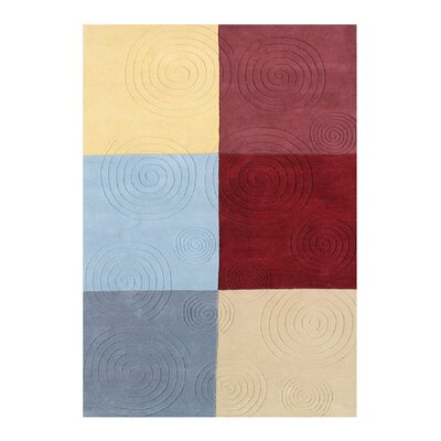 Burchard Hand-Woven Red/Yellow Area Rug Rug Size: 8 X 10