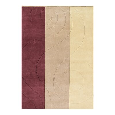 Gaskin Hand-Woven Red/Beige Area Rug Rug Size: 5 X 8