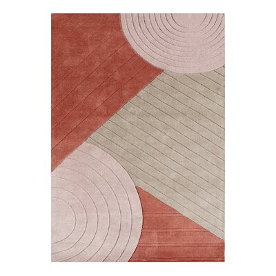 Curtsinger Hand-Woven Gray/Red Area Rug Rug Size: 5 X 8