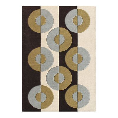 Ellington Hand-Woven Beige/Brown Area Rug Rug Size: 5 X 8