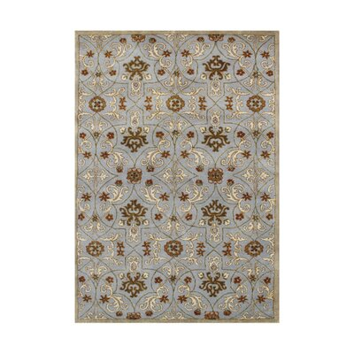 New Zealand Handmade Pearl Blue Area Rug