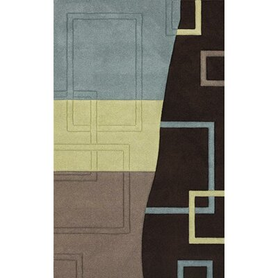 Berkey Hand-Woven Brown Area Rug Rug Size: 5 X 8