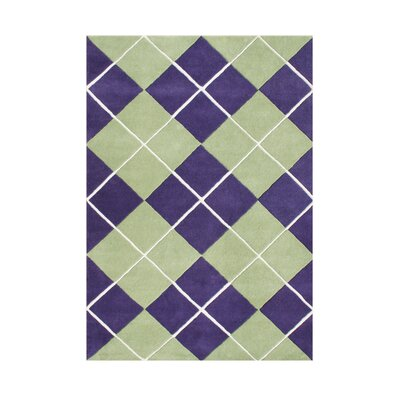Shoals Hand Tufted Wool Purple Area Rug Rug Size: 5 x 8