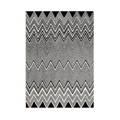 Kerber Hand Tufted Wool Black Area Rug