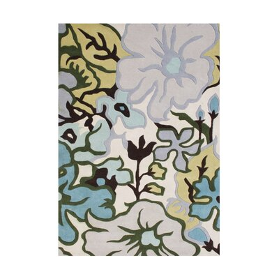 Shoffner Hand Tufted Wool White Area Rug