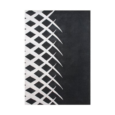 Cleveland Hand Tufted Wool Black/White Wool Area Rug