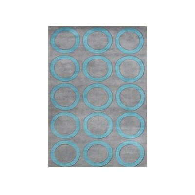Bothwell Hand Tufted Wool Aqua Area Rug