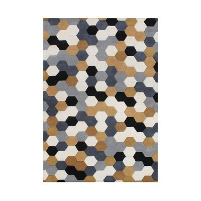 Kerrick Hand Tufted Wool Steel Gray Area Rug