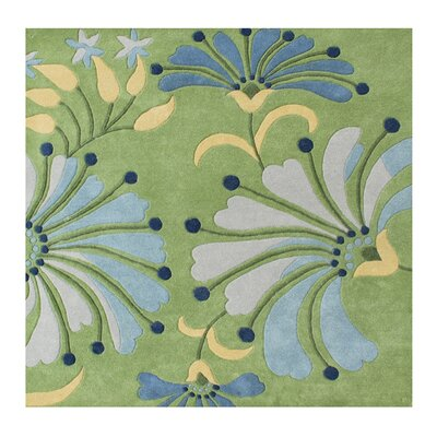 Delanco Hand Woven Wool Green Indoor Area Rug Rug Size: Square 6 x 6