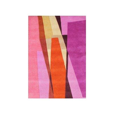 Delran Hand Woven Wool Pink Indoor Area Rug Rug Size: 5 x 8