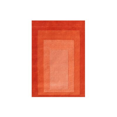 Delaware Hand Woven Wool Orange Indoor Area Rug Rug Size: 5 x 8