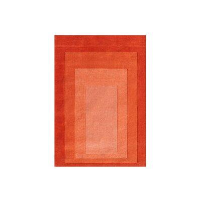 Delaware Hand Woven Wool Orange Indoor Area Rug Rug Size: 8 x 10