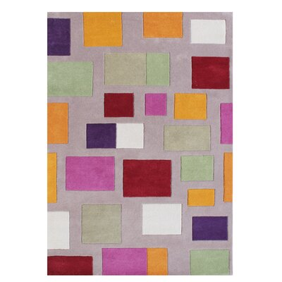 Gillespie Blend Hand-Tufted Wool Gray Area Rug