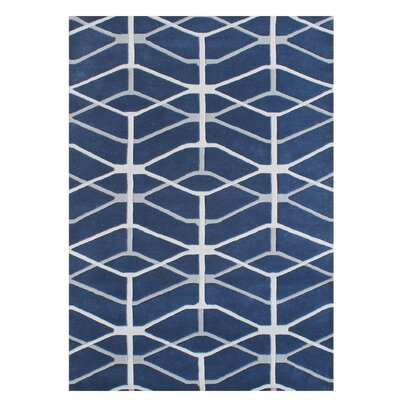 Gladwin Blend Hand-Tufted Wool Blue Area Rug