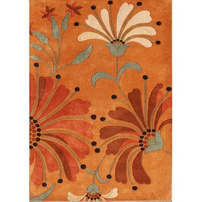 Aberdeen Handmade Rust Area Rug Rug Size: Rectangle 9 x 12
