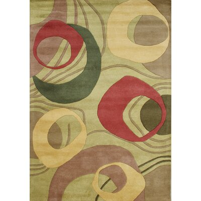 New Zealand Handmade Amber Green Area Rug