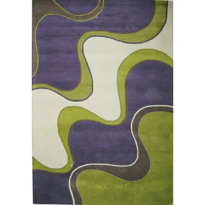 New Zealand Handmade Purple Area Rug