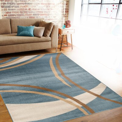 Penny Blue Area Rug Rug Size: Rectangle 9 x 12