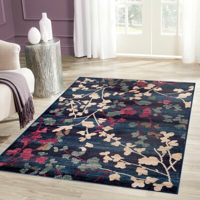 Frederick Navy Area Rug Rug Size: Rectangle 710 x 102