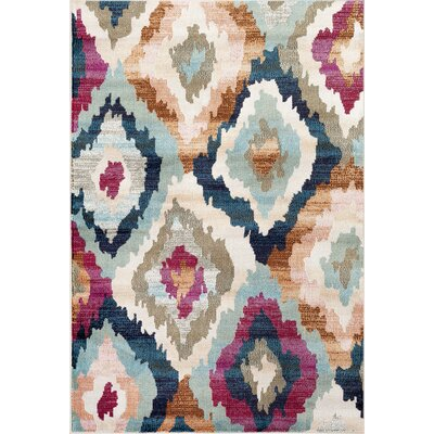 Loft Multi-color Area Rug Rug Size: 2' x 3'