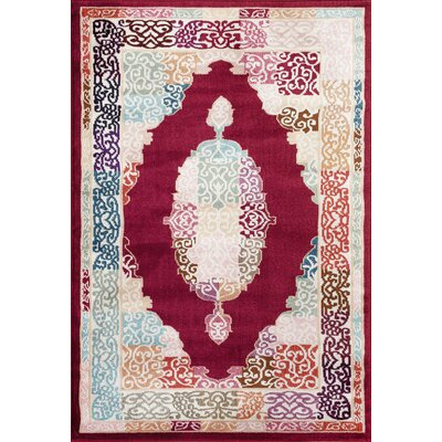 Loft Red Area Rug Rug Size: Rectangle 53 x 73