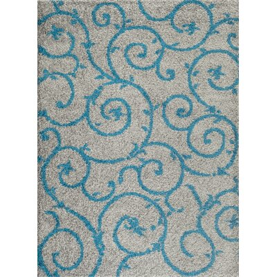 Birdsall Turquoise/Gray Area Rug Rug Size: Rectangle 53 x 73