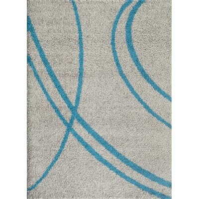 Caressa Turquoise/Gray Area Rug Rug Size: 5'3
