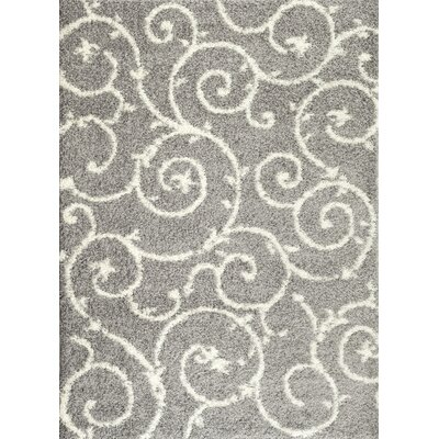 Florida Light Gray/White Area Rug Rug Size: 53 x 73