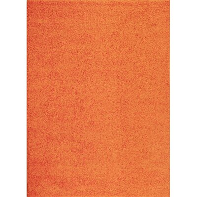 Caressa Orange Area Rug Rug Size: 53 x 73